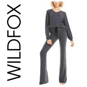 WILDFOX Tennis Club Pants Heathered Grey sz S